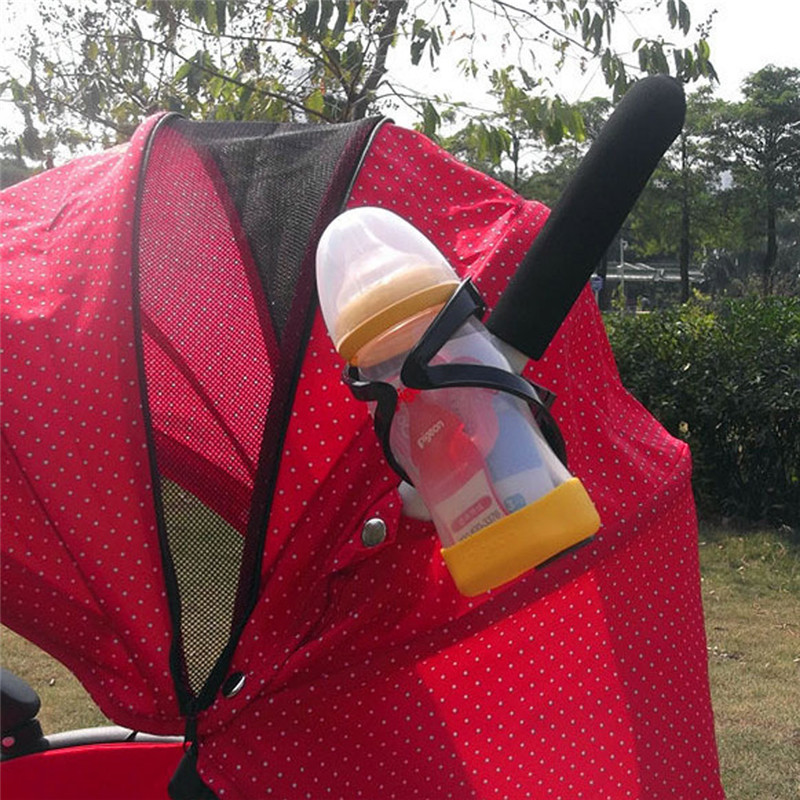 Baby Stroller Cup Drink Holder Universal Children s Bicycle Bottle Rack Black Stroller Accessories for Newborn