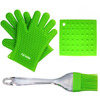 Perfect For Use As BBQ Grilling Heat Resistant Silicone Oven Glove