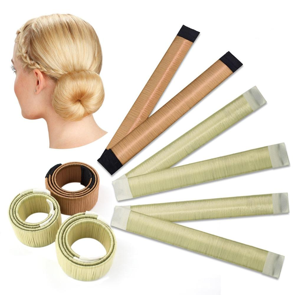 Quick Shipment Magic French Hair Bun Maker for Women Twist Disk Donut, 5 colors available