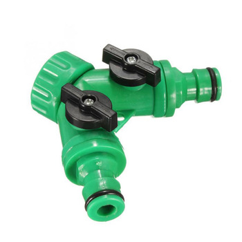 Garden  irrigation connection Pipes 2 Way Connector Watering Tool Tap Connector
