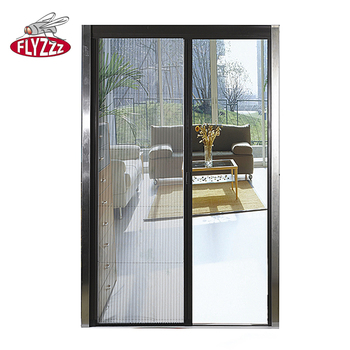 Attrayant Fiberglass Anti Fly Diy Pleated Mesh Folding Mosquito Protection Door  Plisse Insect Screen