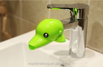 Happy Fun Animals Faucet Extender Baby Kids Hand Washing Bathroom Sink Gift