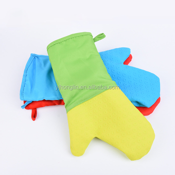 35cm non stick silicone resist heat glove with long sleeve