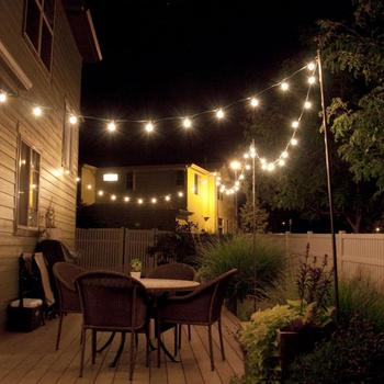 2019 popular distribution multicolor family bedroom decoration G50 patio 25ft100ft globe string lights