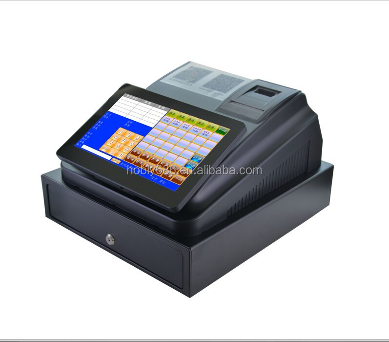 electronic cash register with pos software, cash drawer & printer in big sale
