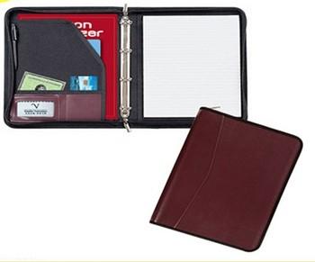 professional black portfolio folder business portfolio folder with customized logo new leather binder folders