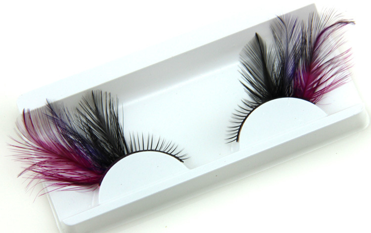 3D colour party makeup false  eyelash extension lashes OEM logo