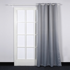 gray jacquard portable kitchen russian bedroom curtains ready made one side