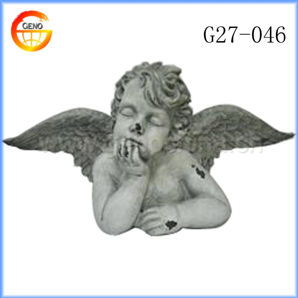 Custom garden decor ceramic figures angels