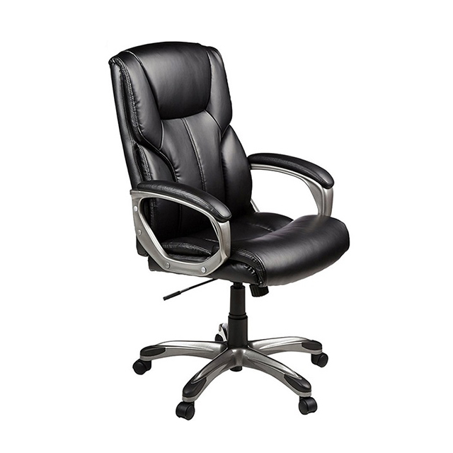 High Back Executive Chair Black True Seating Concepts Leather Office