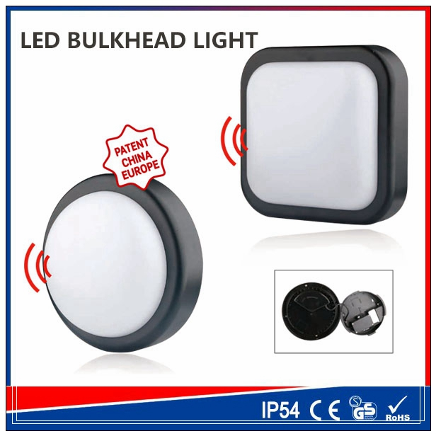 Factory Price PIR Sensor Surface Mounted LED Ceiling Lights 15w 14w emergency bulkhead