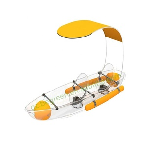 2 persons ocean fishing pedal used double wholesale china clear transparent sea kayak