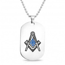 Yiwu aceon Acero inoxidable estampado colorido <span class=keywords><strong>esmalte</strong></span> Masonic Dog TAG