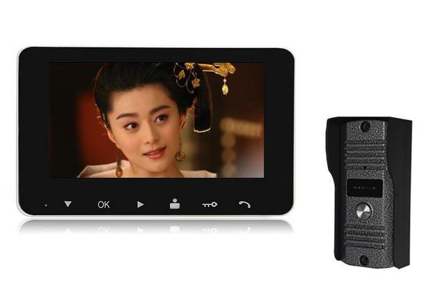 4,3 Inch видео дверь телефон, Doorbel внутренняя связь ик-камеры камера монитор, Разблокировать, Два 3,5-полосная внутренняя связь функции