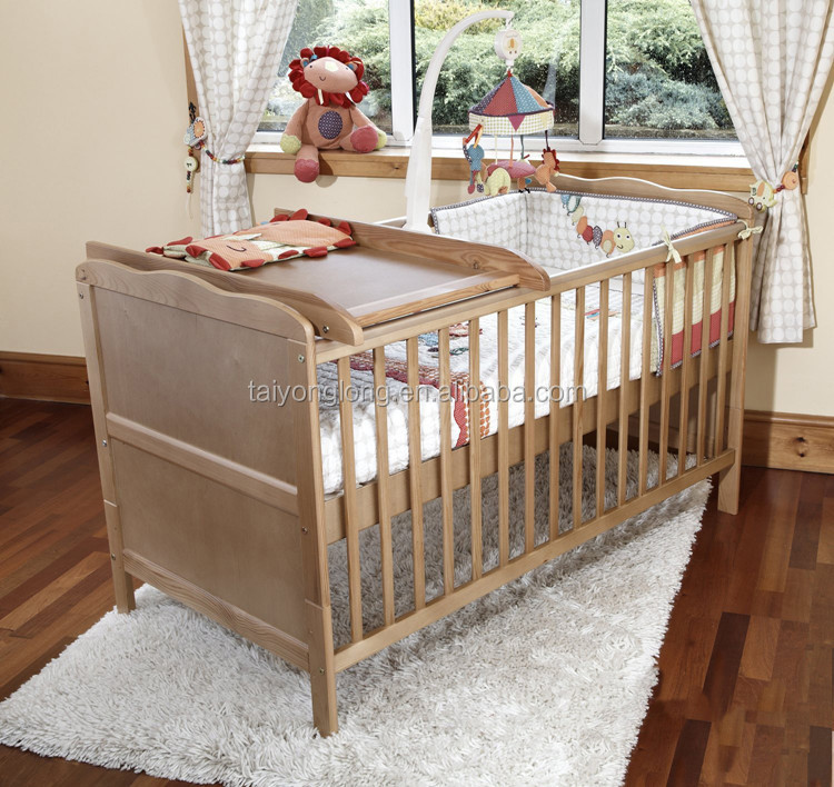 Latest bedroom furniture designs wood beds baby bed