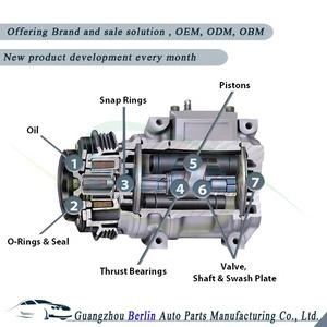 Delphi Sp10 Car A C Compressor, Delphi Sp10 Car A C Compressor