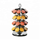 Wholesale supply 4 tier metal wire iron powder coated nespresso coffee capsule pod storage stand for holder capsule