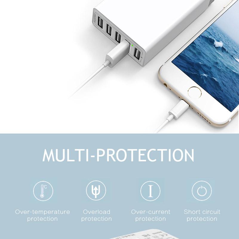 סין סיטונאי 5 USB נסיעות מהיר טעינת 6a 8a רב מטען עבור אנדרואיד tablet