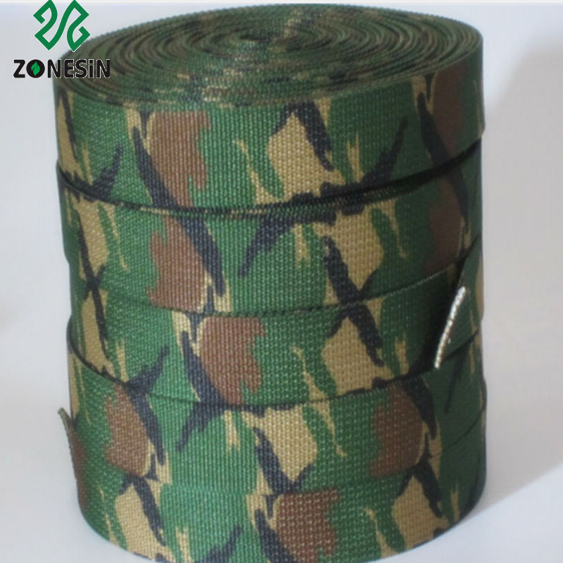 Thick Military Green Camouflage Nylon Webbing Ribbon for Dog Belt Strap Accessory