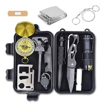 Outdoor Camping SOS Equipment Tools Hiking Adventurer Emergency Set Survival Kit approved by FDA, CE, ISO13485