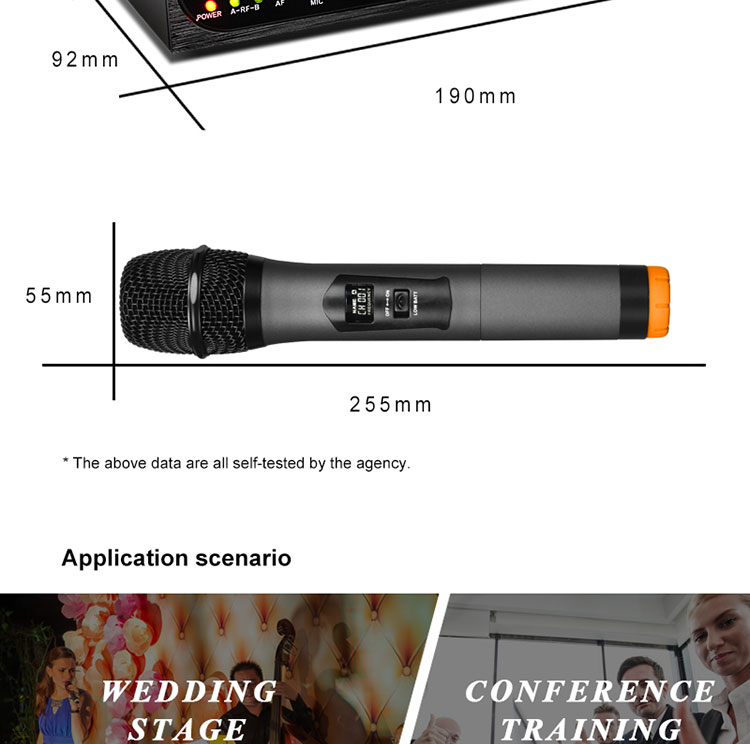 new design with  Karaoke  wireless handheld microphone
