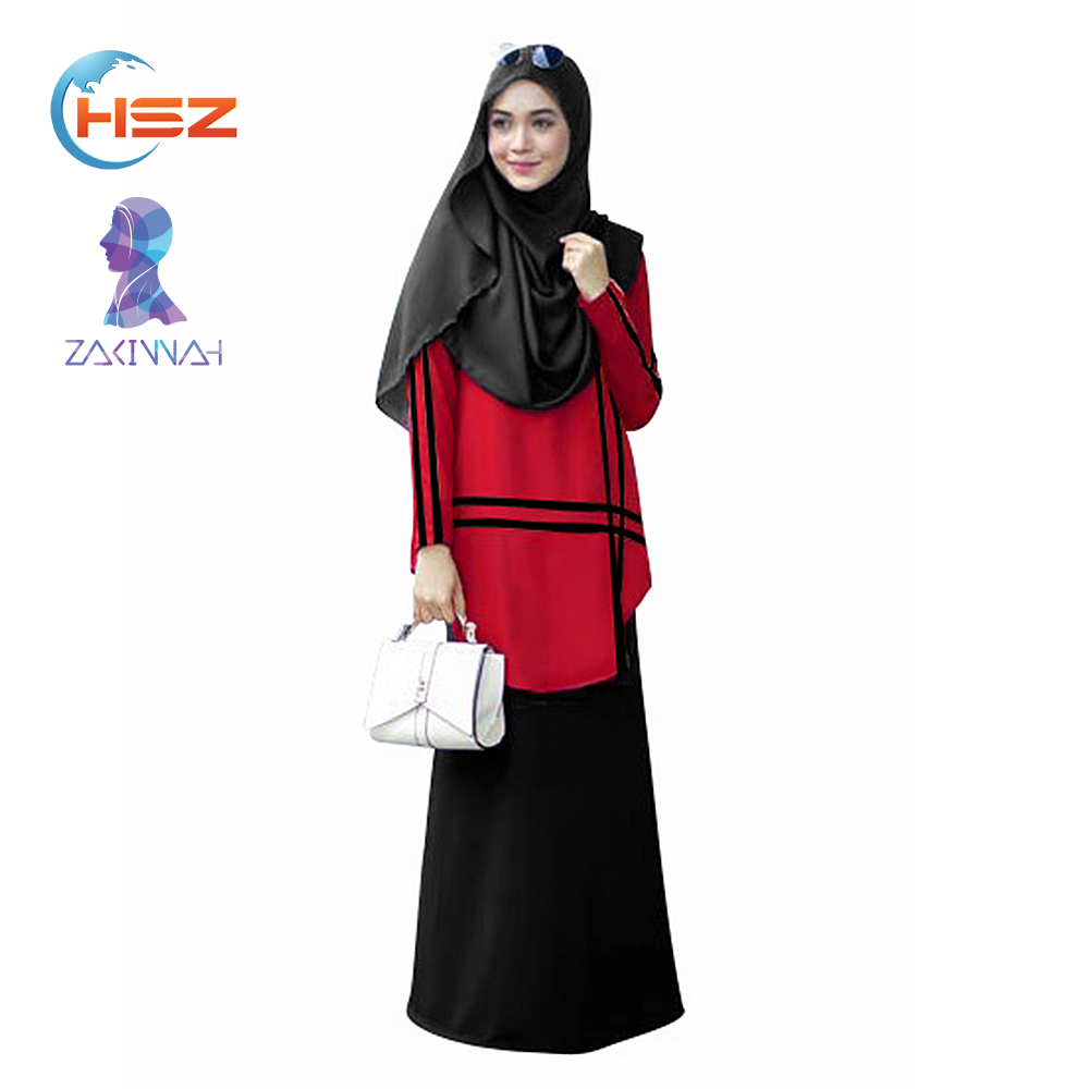 Zakiyyah E005 Hot sale islamic abaya butterfly abaya with muslim hijab new design 2 pieces set muslim kimono abaya