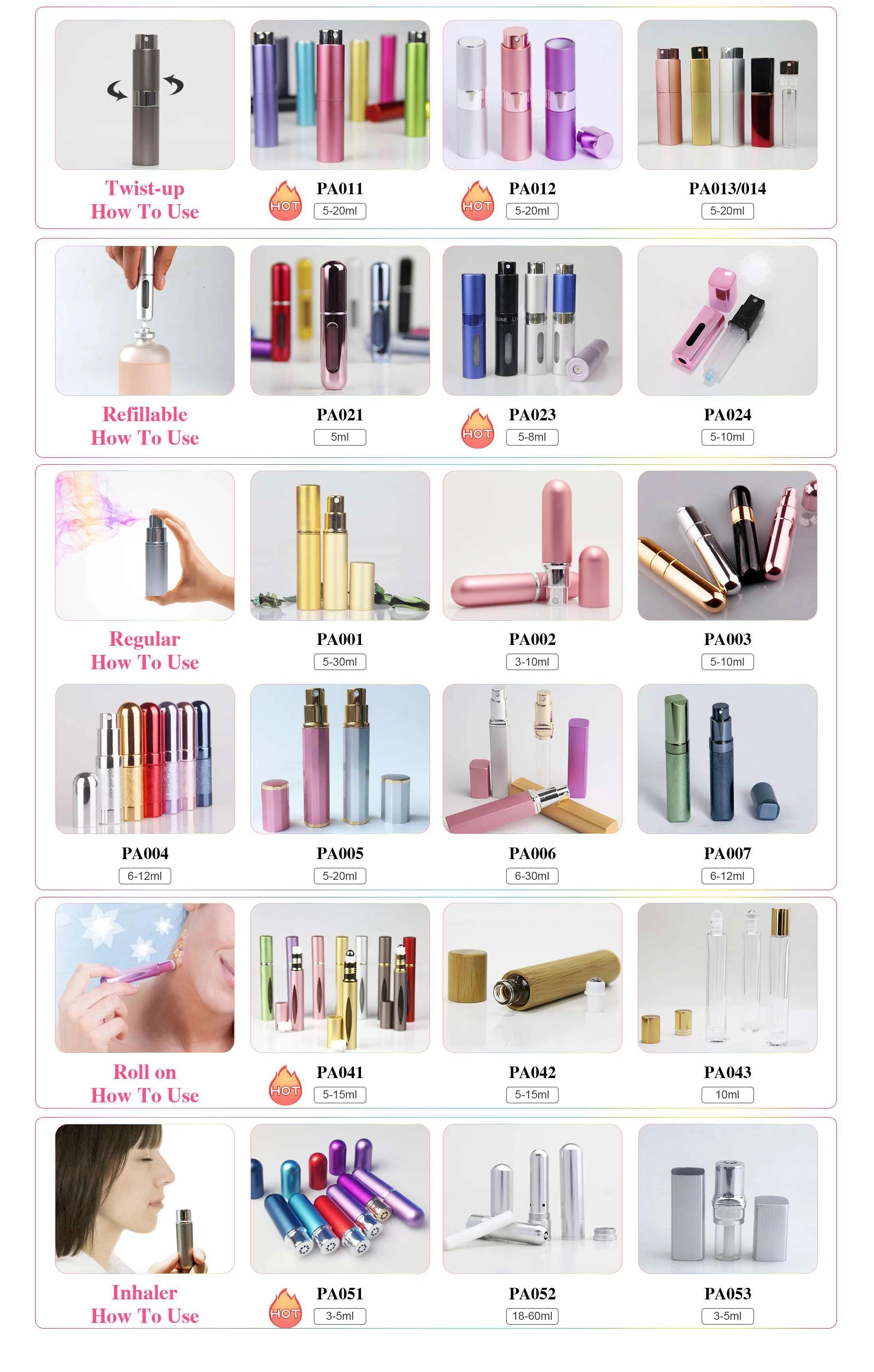 Eco-friendly 30ml Perfume Bottle With Bamboo Lid Refillable Custom Design Perfume Bottles Bamboo