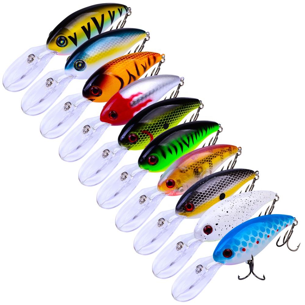 Crankbait Fishing Wobblers 14.5g 10cm Artificial Crank Bait Bass Lure Pike Trolling Fishing Tackle, 14 colors