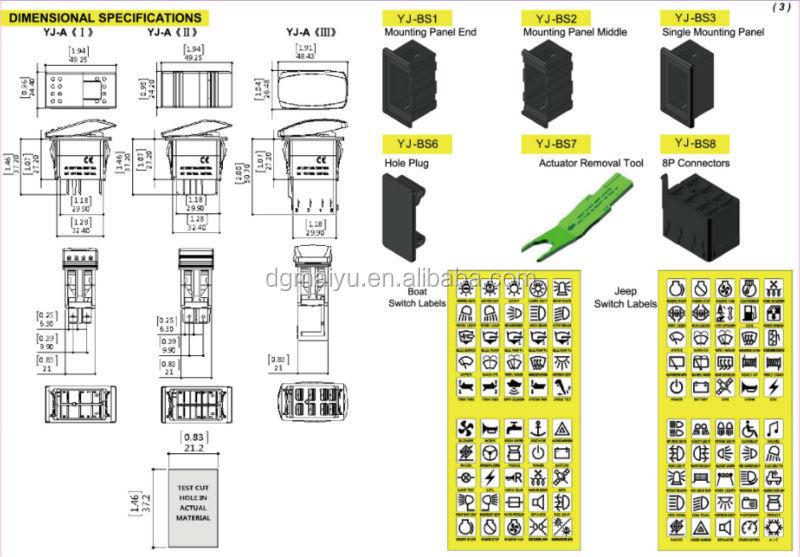 HTB1ssNDFFXcUapXXq6xXFZ Illuminated Single Pole Switch Wiring Diagram on