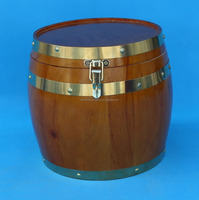 Pine Wood Ice Wine Beer Barrel Bucket With Stainless Steel Container