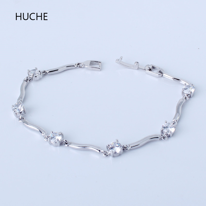 HUCHE Simply Style White & Gold Color Endless Love Women ...
