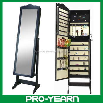 Floor Standing Wooden Mirror Jewellery Cabinet For Jewelry Storage Display And Dressing Make Up With Modern Diy Furniture Design View Mirror