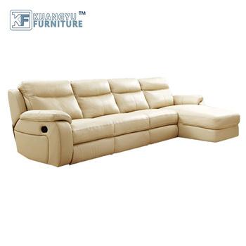 U Shaped Modular Recliner Leather Sofa Set Sectional Corner Sofas