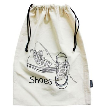 Hot sale promotional cheap recycled reusable organic cotton canvas shoe bag
