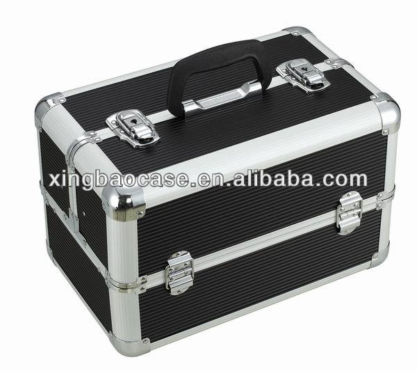 Foldable handing aluminum hardware tool case with latch drawer