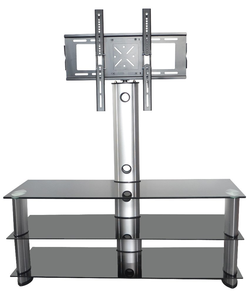 Fancy design popular glass lcd cabinet corner tv stand designs RA1405