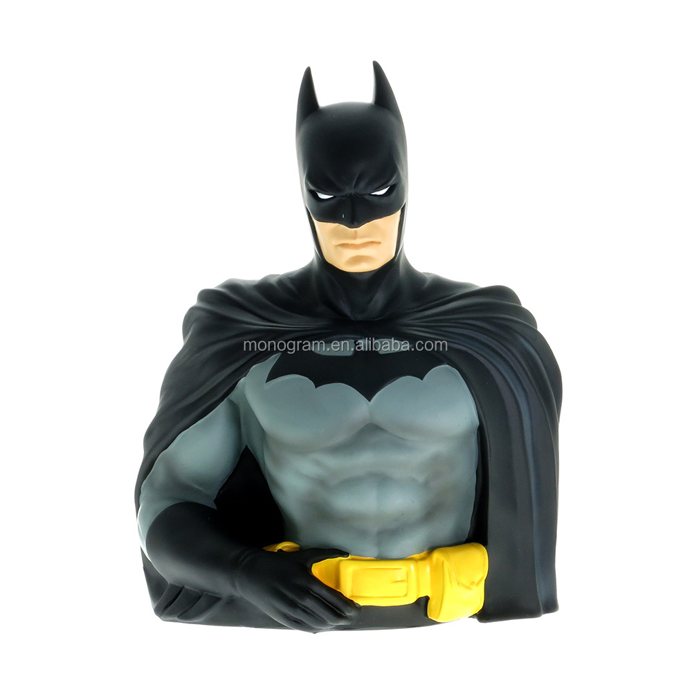 LOW MOQ INTERESTING PLASTIC 3D CARTOON CHARACTER  MONEY BOX WARNER BROTHERS DC COMICS FIGURE BANK BATMAN WITHOUT ROYALTY COST