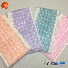 disposable printed face mask with colour design