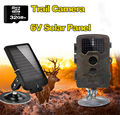 Free Shipping 32GB H801W 12MP Infrared IR Digital Trail Game Hunting Camera TVL 6V Solar Battery