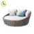 Project custom rope woven round swimming pool garden line outdoor furniture daybed