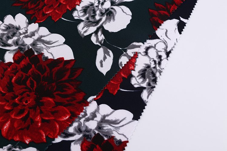 China textile city custom requirement red flower african printed silk fabric of tablecloth