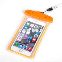 2016 Trending Products Waterproof Case Swimming Smart Phone Bag Pouch for iphone5s SE Orange