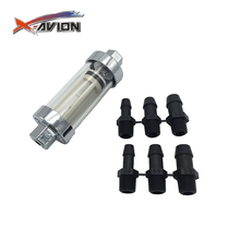 "Hot high-end glass fuel filter stainless steel net 1/4 "", 3/8"", 5/16 ""import and export motorcycle glass fuel filter"