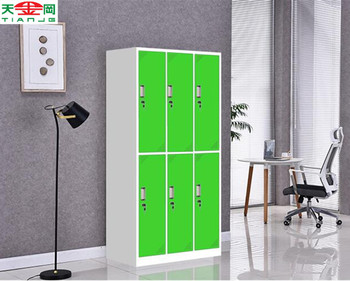 Tjg Colorful 6 Doors Steel Wardrobe Cabinet Cloth Storage Cabinet ...