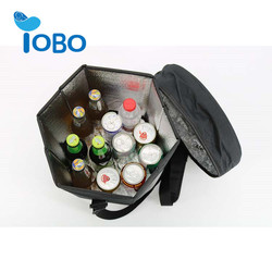 Collapsible thermal water bottle beer bottle cooler bag