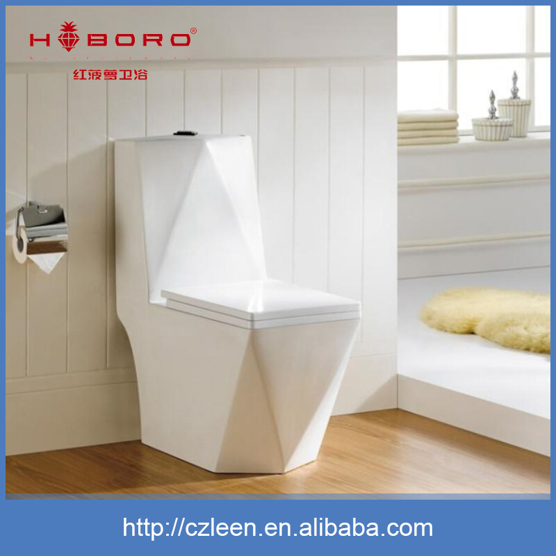 Authoritative water-saving sihponic ceramic sensor toilet auto flush