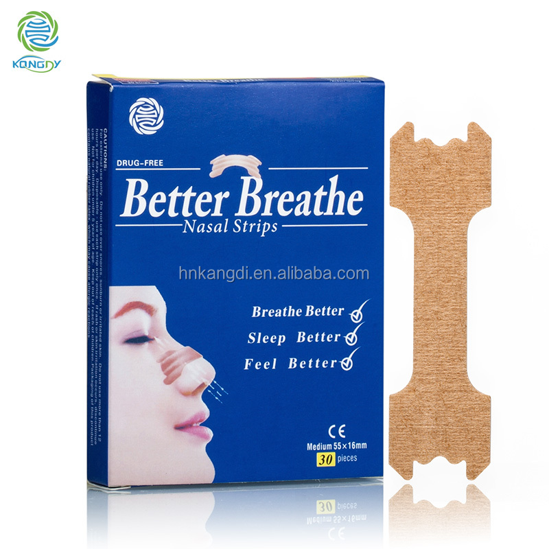 CE approved high quality snore stopper/drug free unobstructed breath right nose patch