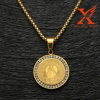 Iced out virgin mary gold plating virgen de guadalupe pendant medal iced out virgin mary gold plating virgen de guadalupe pendant medal aloadofball Choice Image