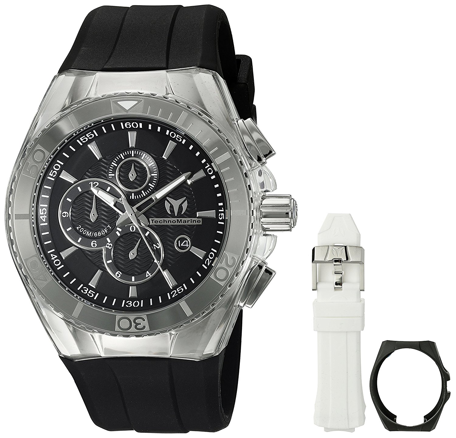 Technomarine Men's TM-115042 Cruise Original Analog Display Quartz Black Watch