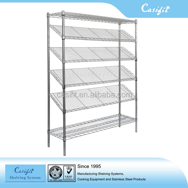 Commercial heavy duty stainelss steel wire shelving rack